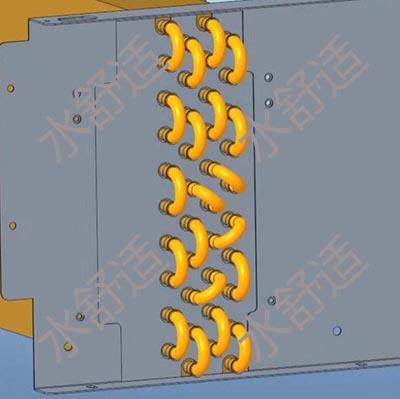 卧式暗装风机盘管的2排管,3排管,4排管和3+1排各是什么意思?