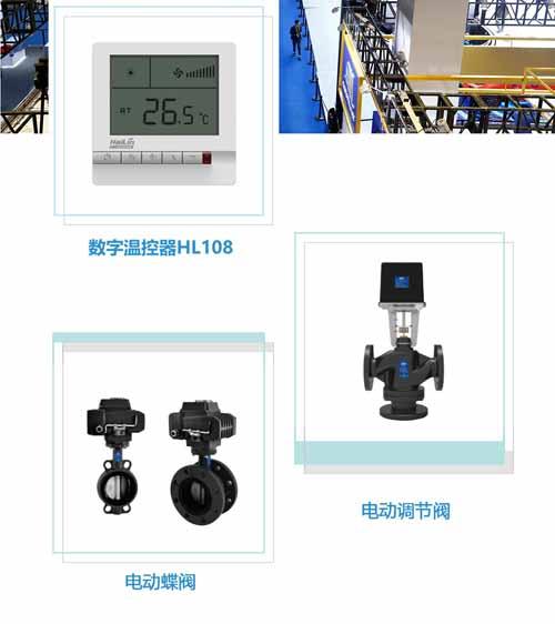 海林HL108系列数字温控器及电动阀助力第二届进博会