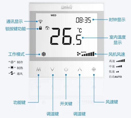 海林HL7031无线LoRa温控器推出  穿透力强传输远