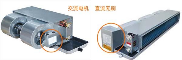 直流无刷风机盘管与普通交流电机风盘有什么区别和不同?